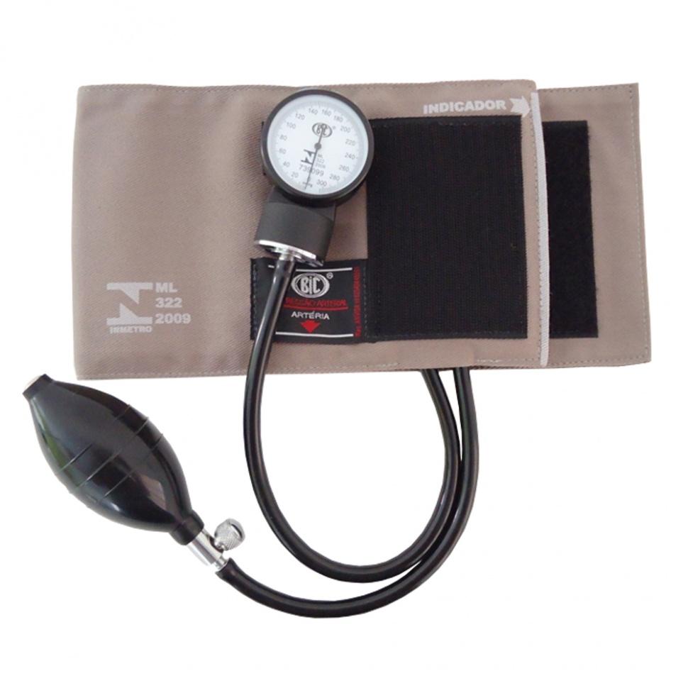 Aparelho de pressão esfigmomanômetro com velcro BIC :: Mobraz
